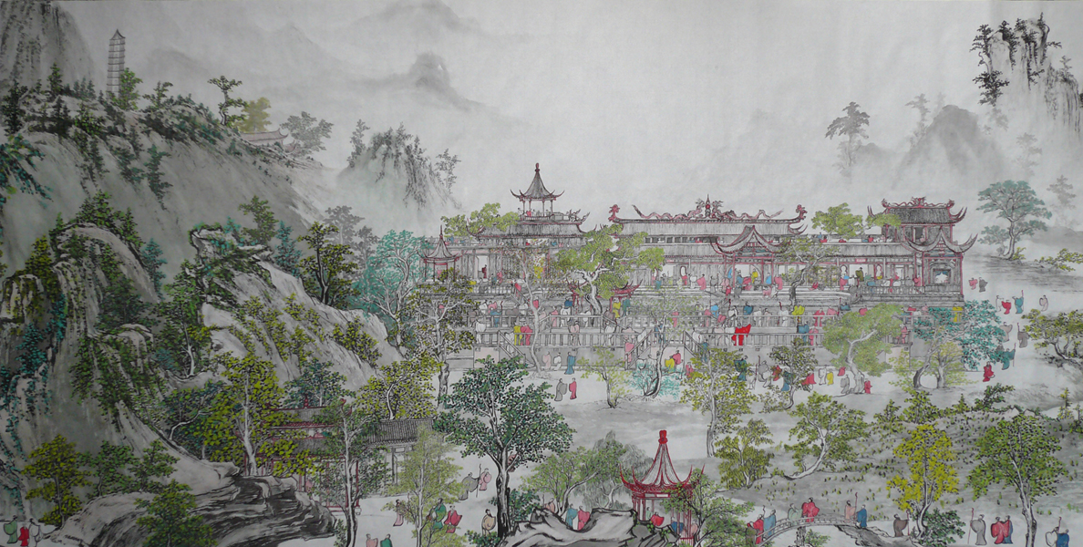 A Giant Traditional Chinese Painting | CLICK ON IMAGE